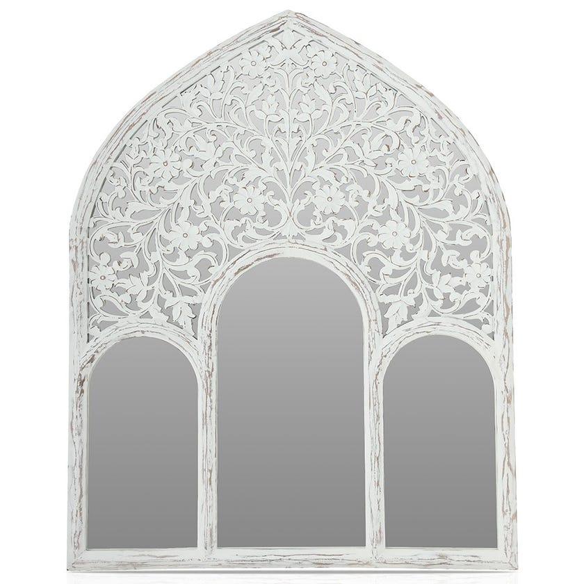 Wooden Mirror Frame, White - 120x150 cms