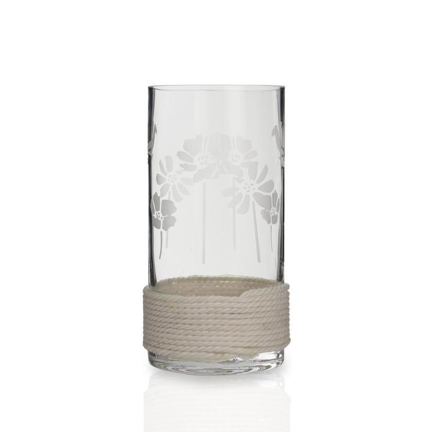 Ecru Glass Vase, Medium