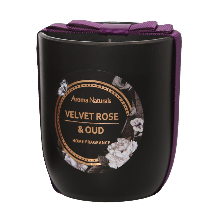 Rose & Oud Scented   Glass Candle