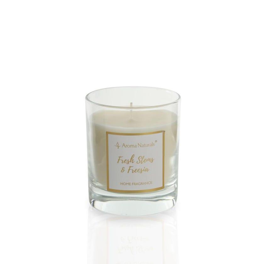 Fresh Stems and Freesia Glass Jar Candle
