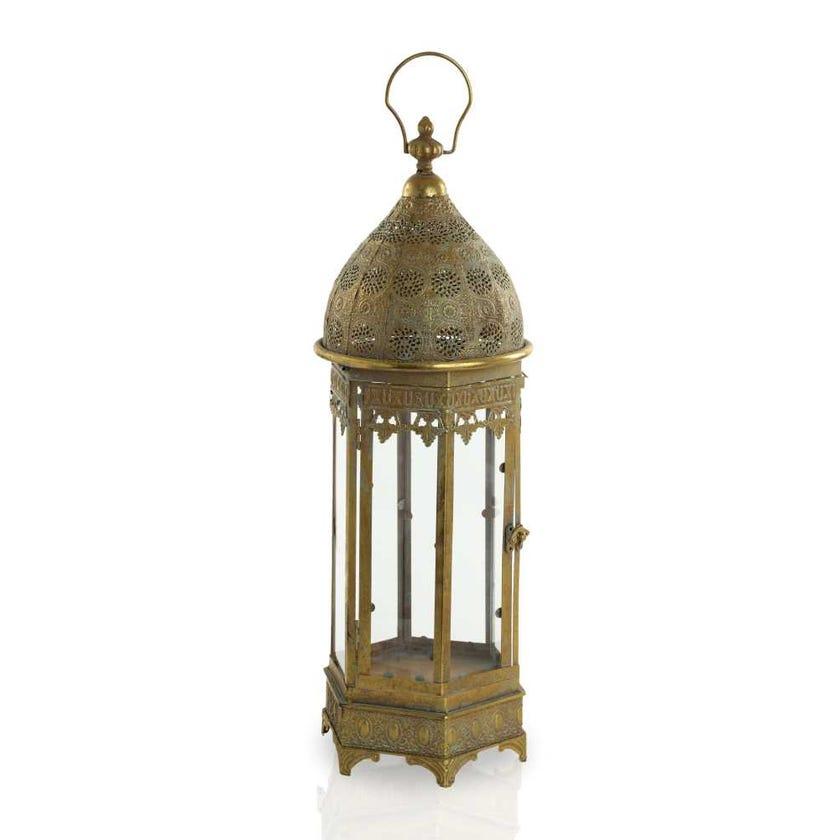 Abia Moroccan Metal Lantern - Large