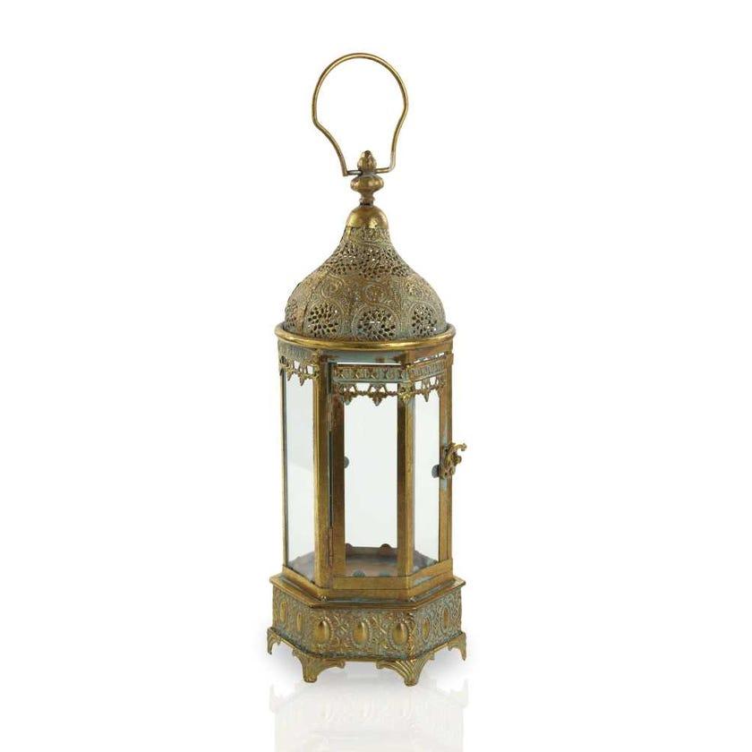 Abia Moroccan Metal Lantern - Medium