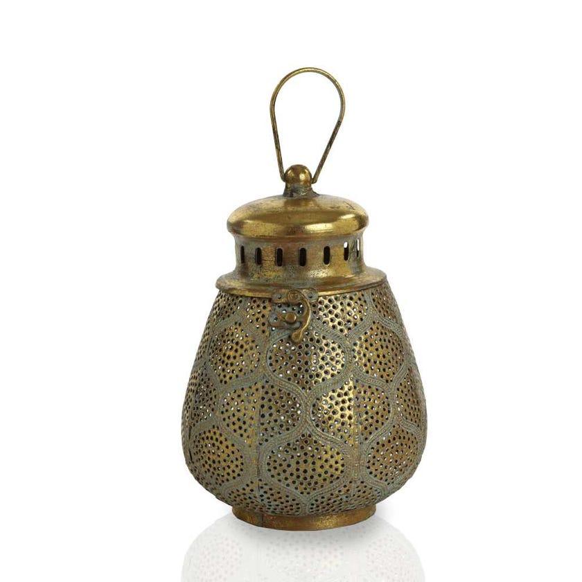 Flan Metal Lantern - Medium