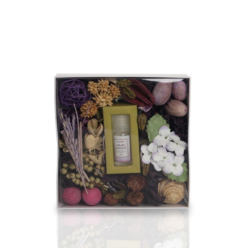 Lilac Lavender Fragrance Potpourri Paper Tray with Oil (18 x 5 cms)