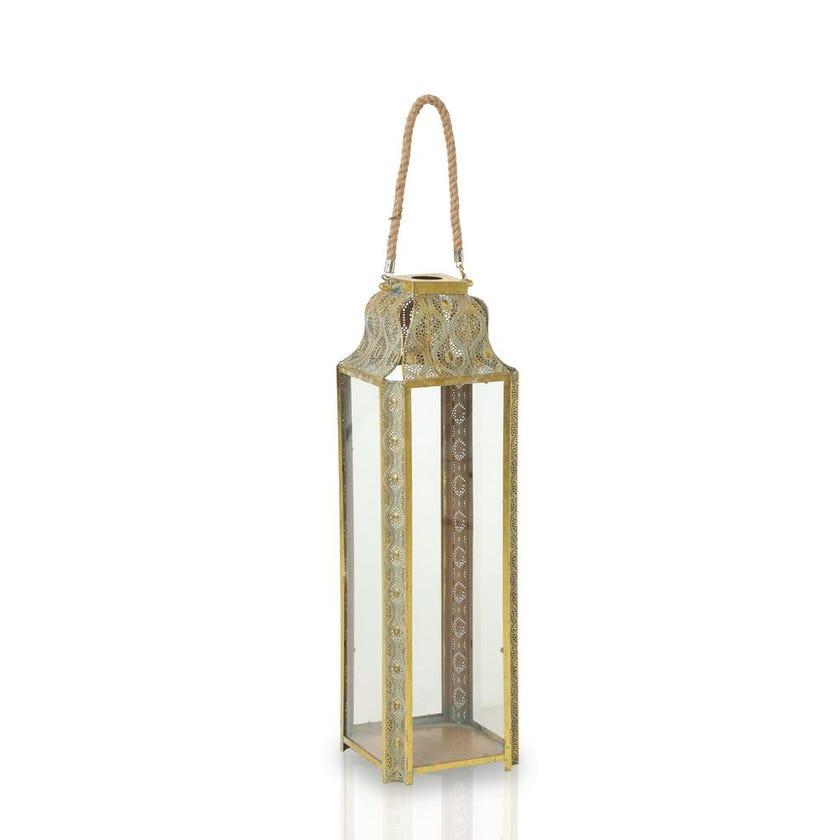 Aatirah Glass Metal Lantern