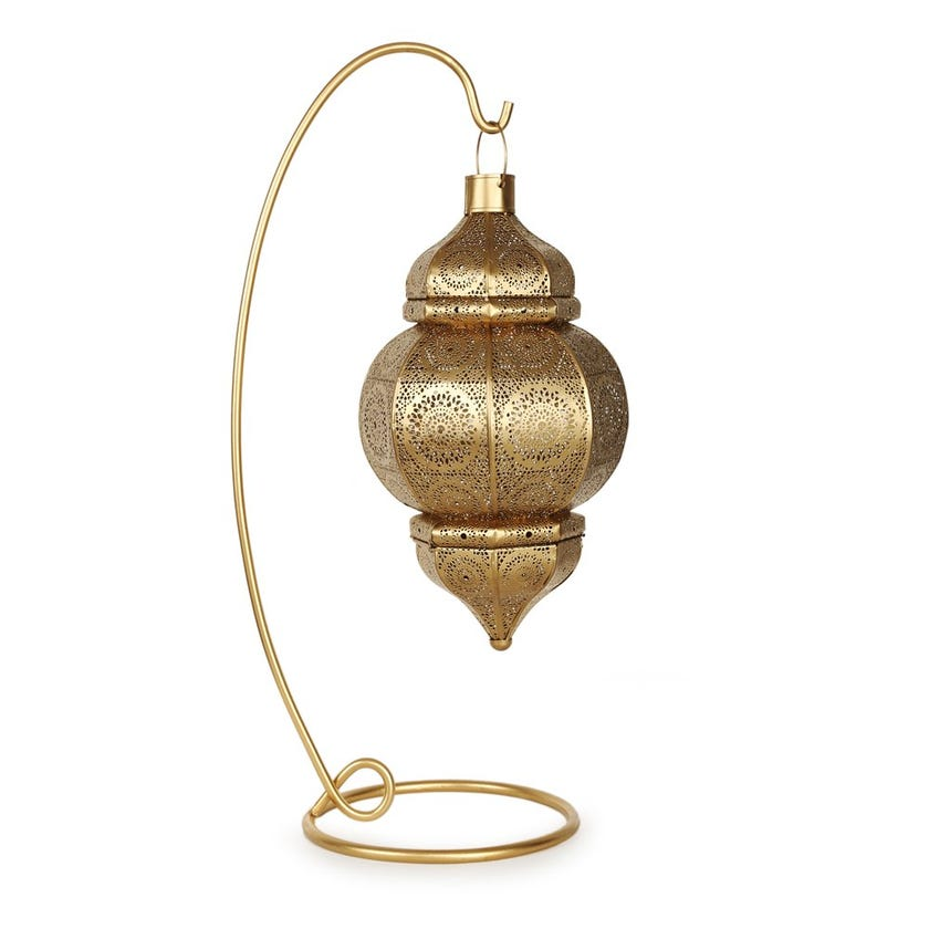 Chrysta Hanging Tealight Candle Lantern - 56x27 cms