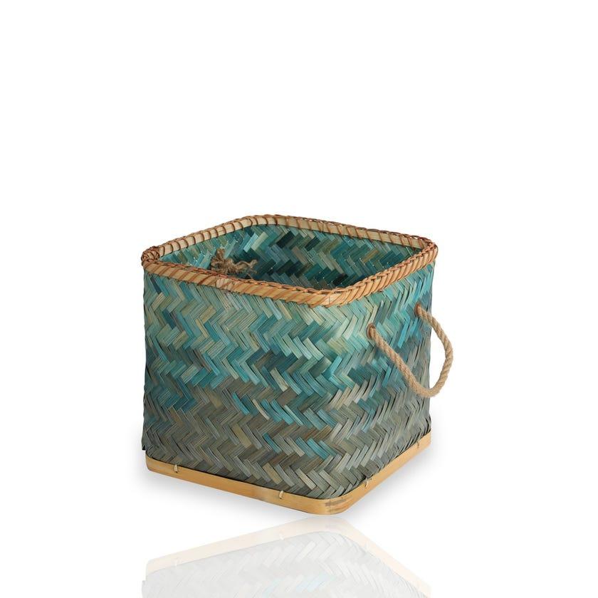 Bamboo Basket, Deep Mint - Large