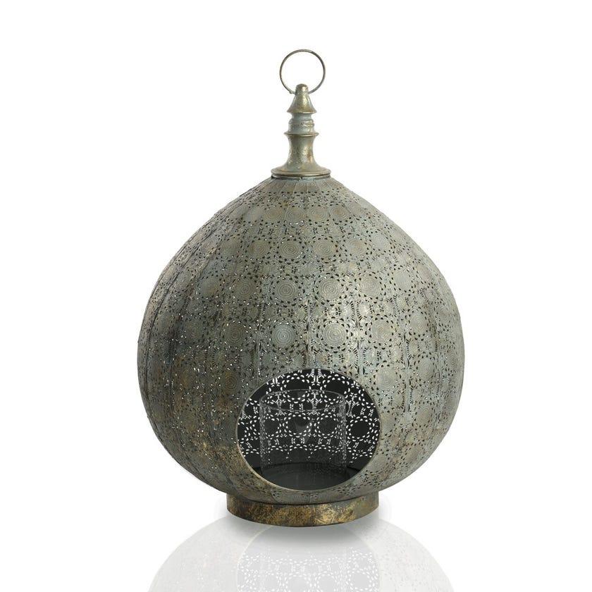 Ariana Dewdrop Metal Lantern - Metal