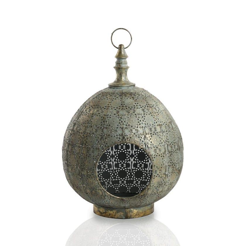 Ariana Dewdrop Metal Lantern