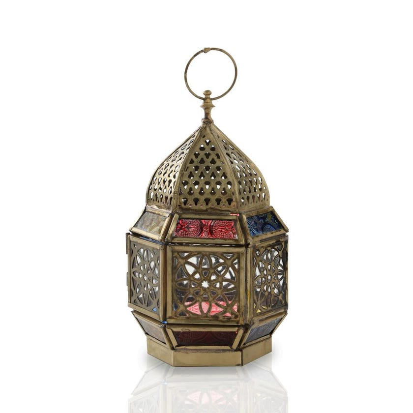 Hanan Festive Candle Holder Lantern, Gold