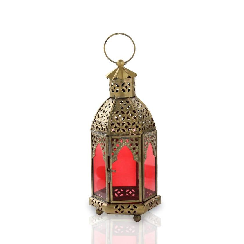 Heena Festive Candle Holder Lantern, Gold