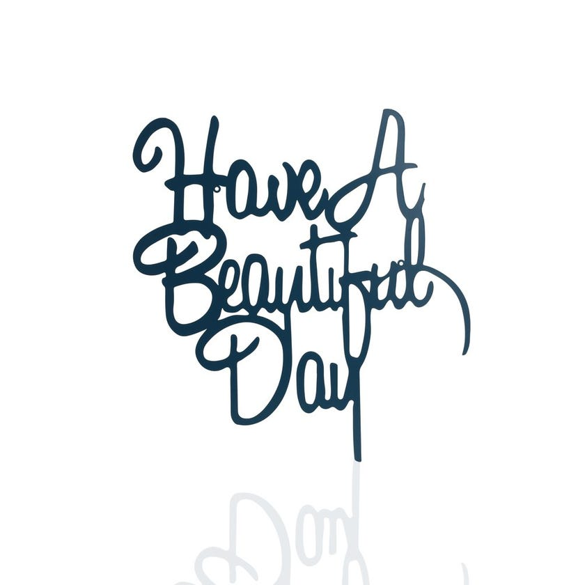 Wall Décor Metal Plaque - Beautiful Day (55 x 57 cms)