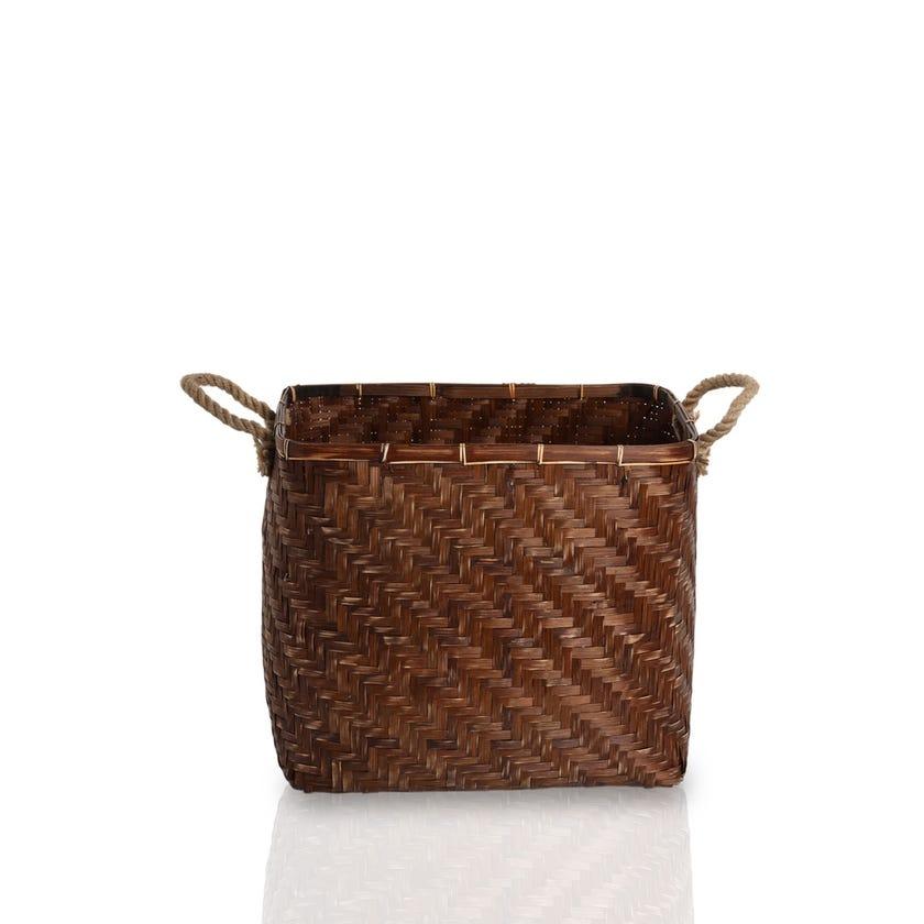 Bamboo Basket, Brown - Large