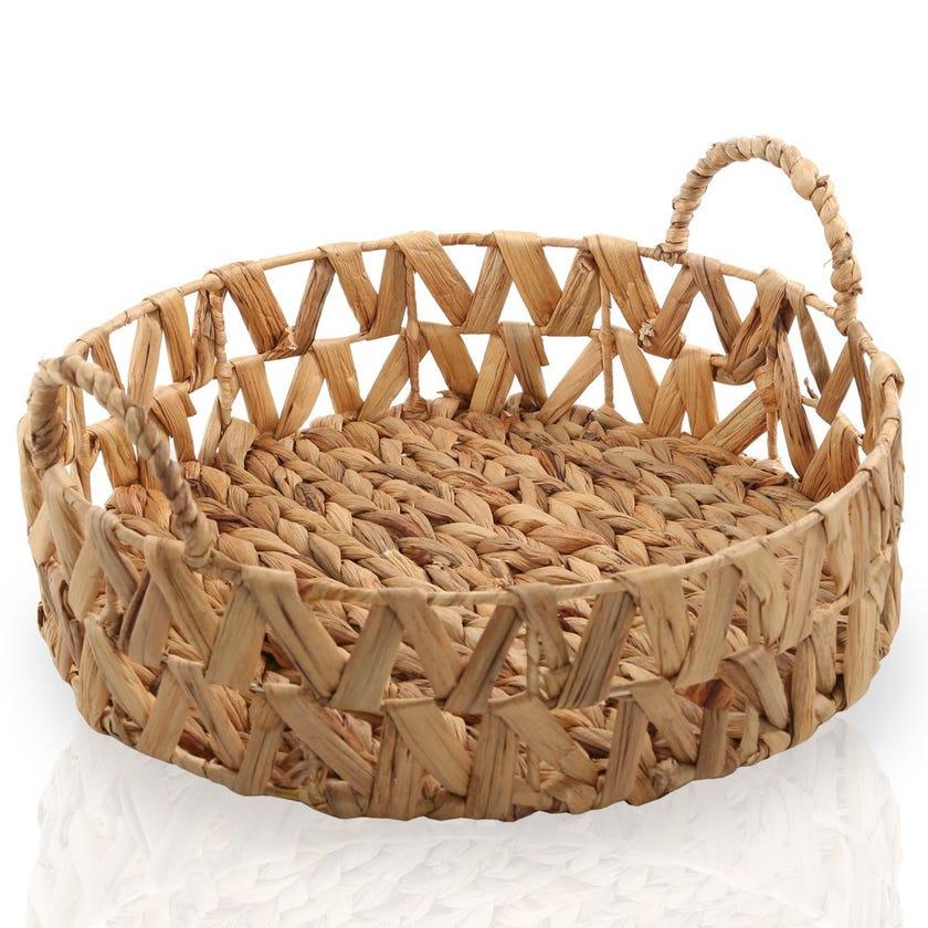 Water Hyacinth Basket, Natural – Large