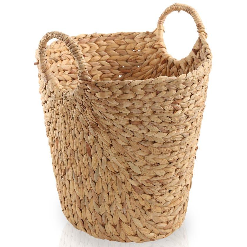Water Hyacinth Open Basket, Natural – Large