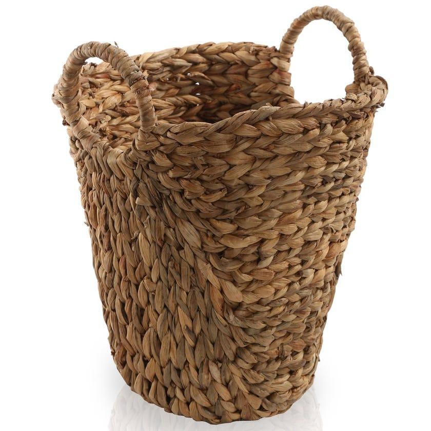 Water Hyacinth Open Basket, Natural – Small