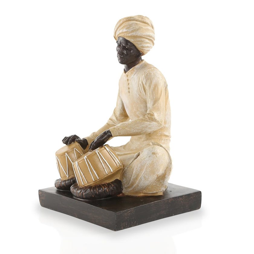 Indian Musician Figurine (18 x 25 cms)