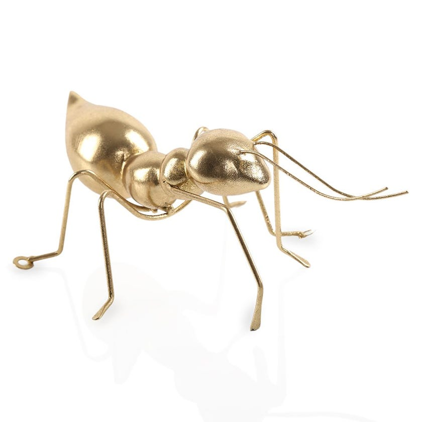 Electroplated Gold Ant, Small (22 x 7 cms)