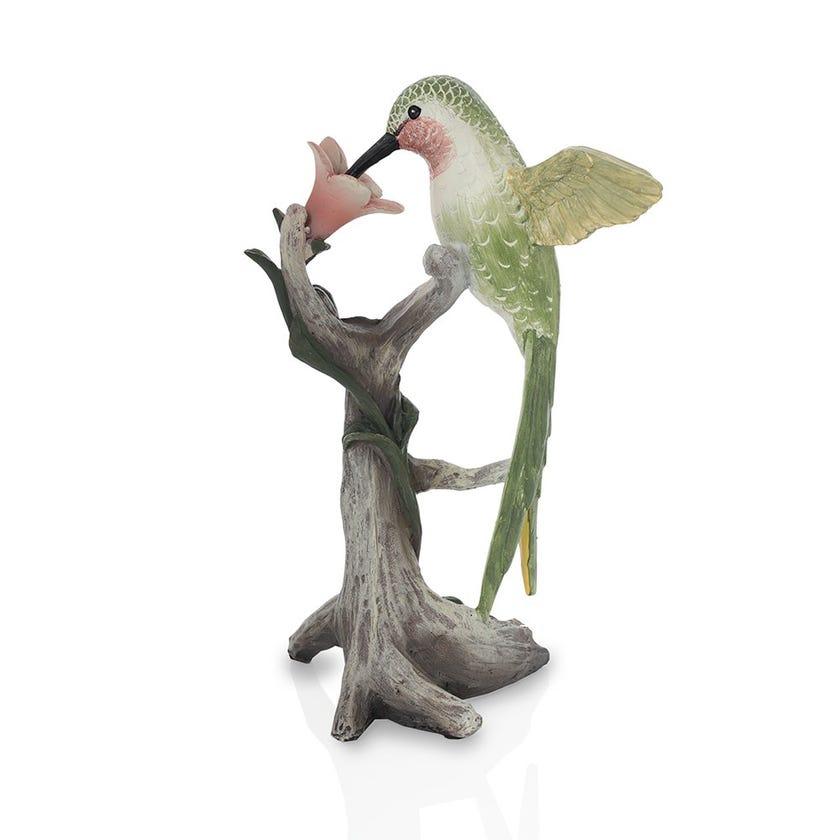 Hummingbird Resin Figurine, Multicolour