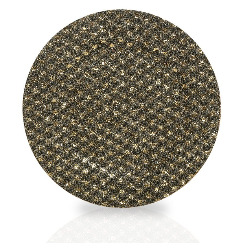 Canary Glitter Charger Plate, Bronze