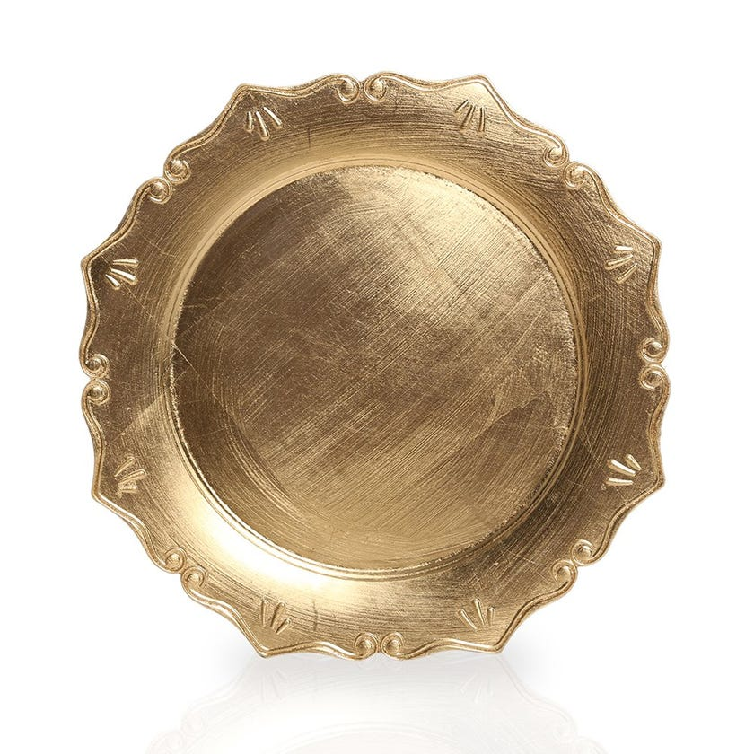 Cathy Charger Plate, Gold