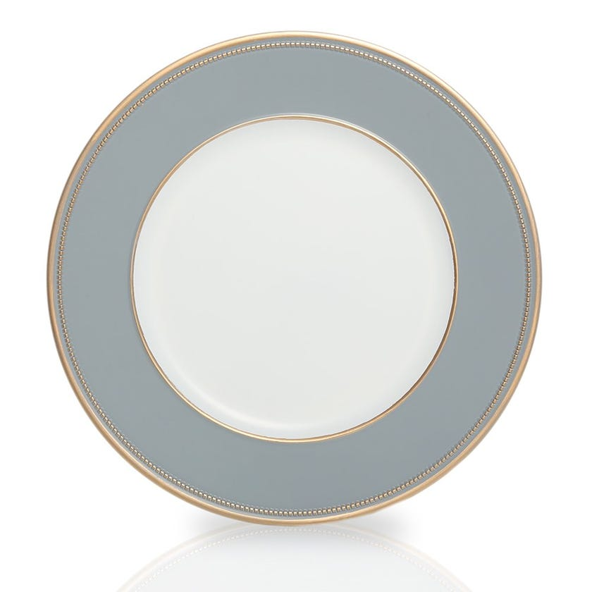 Lily Charger Plate, White and Blue