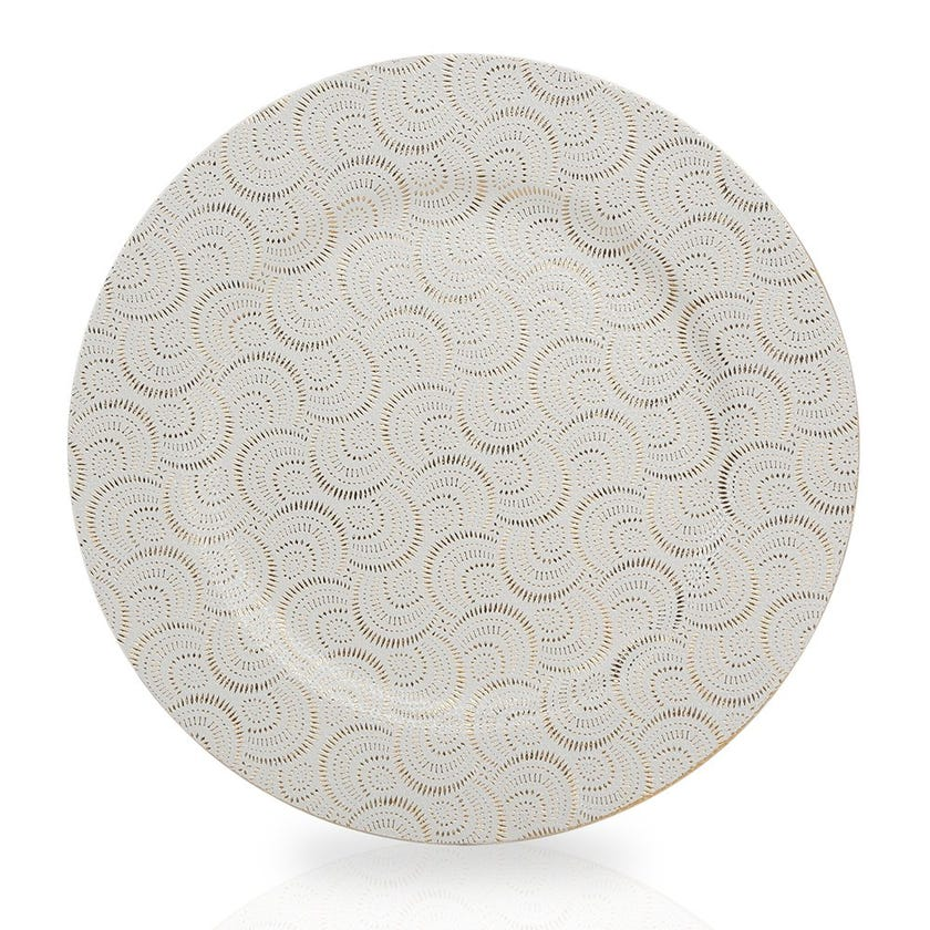 Tapioca Charger Plate, White