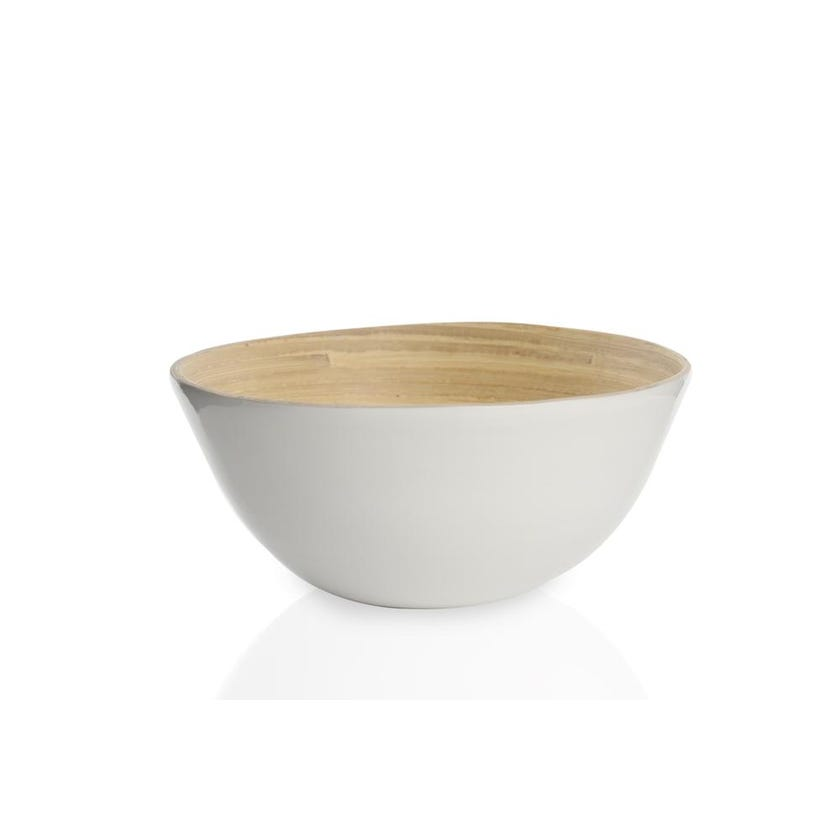 Show White Bamboo Bowl, Small