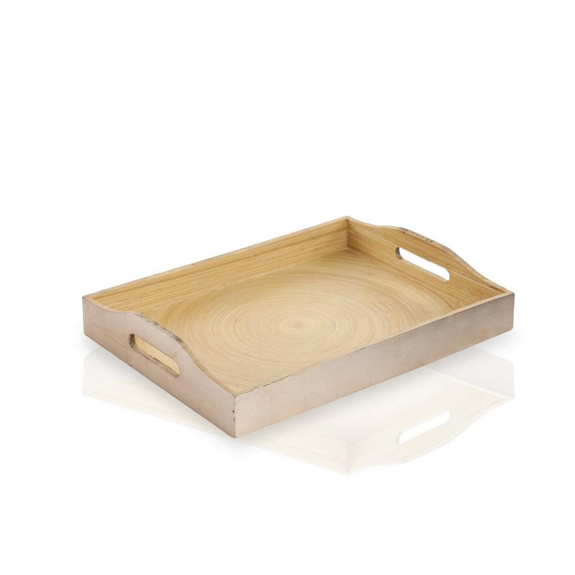 Rich Gold Bamboo Tray, Small