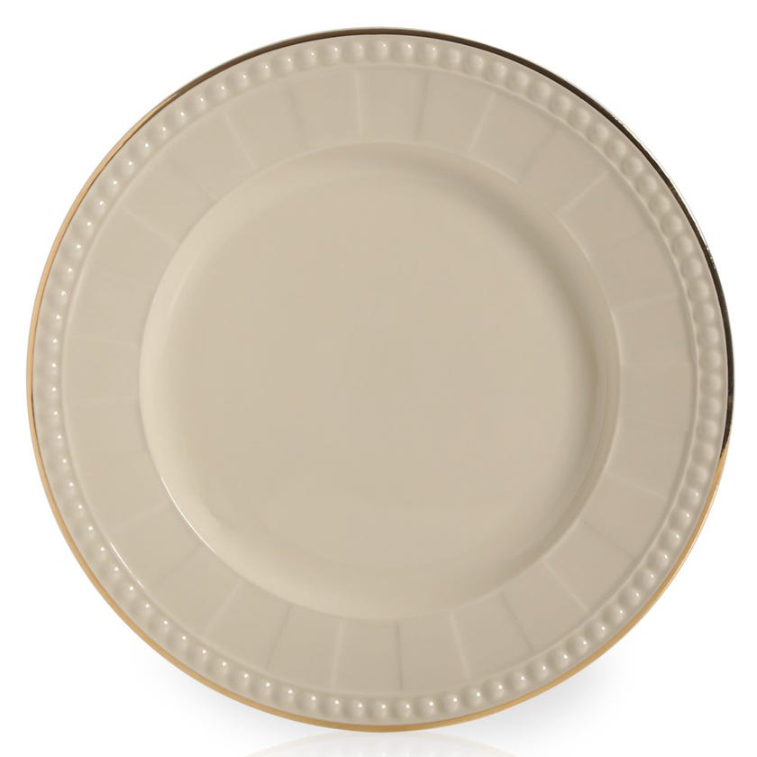 Venice Dessert Plate, Ivory Cream – 21.5 cms