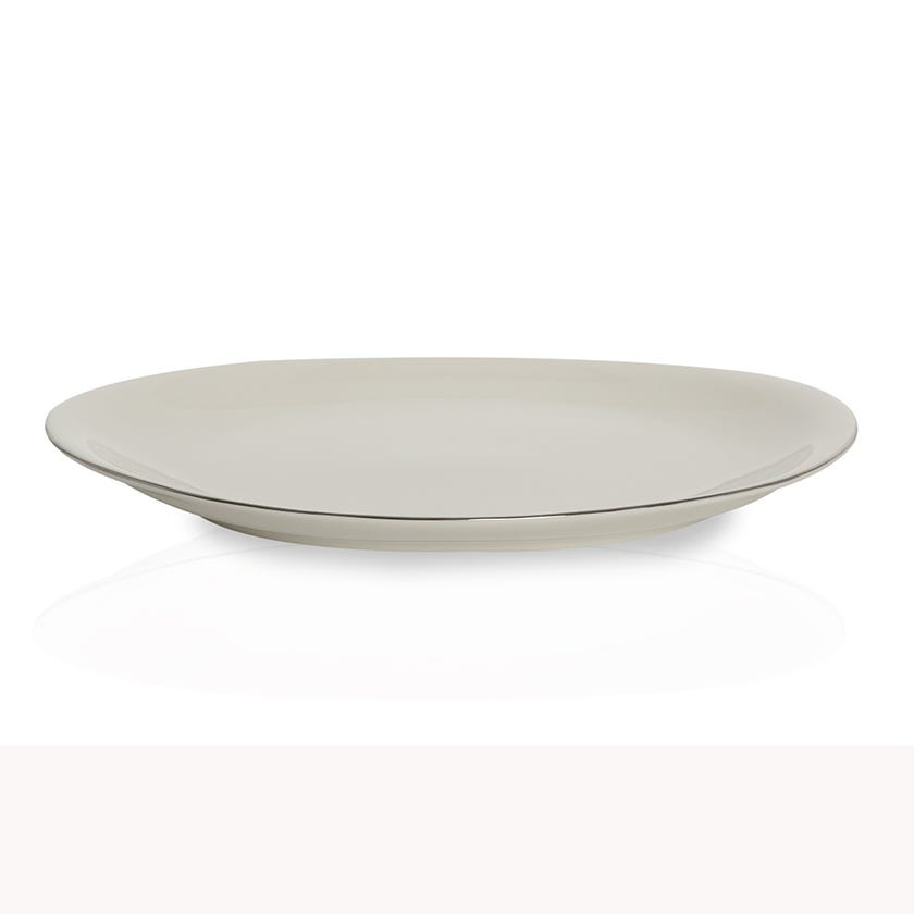 Sense Porcelain Oval Platter - Platinum Lining