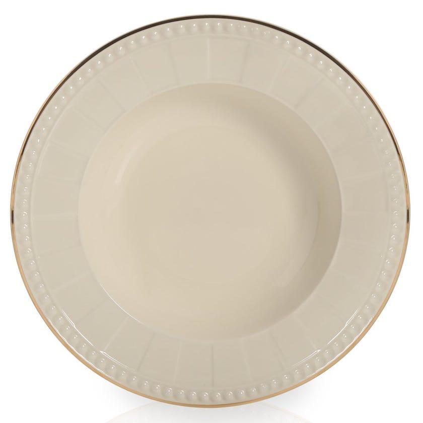 Venice Soup Plate, Ivory Cream – 23 cms