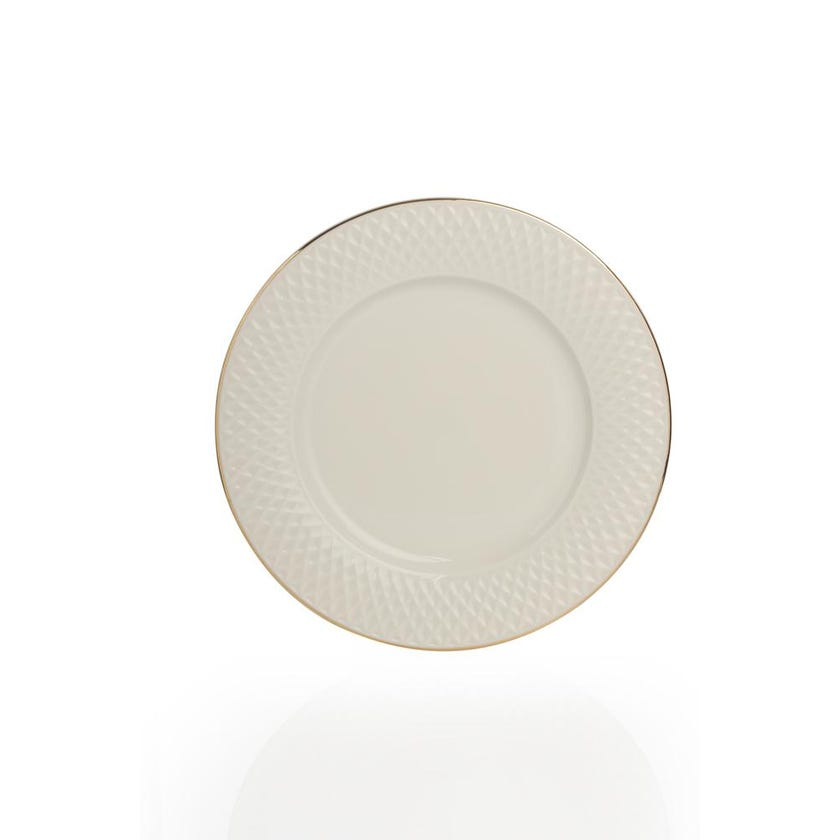 Eclat Porcelain Dessert Plate - Gold (21 cms)