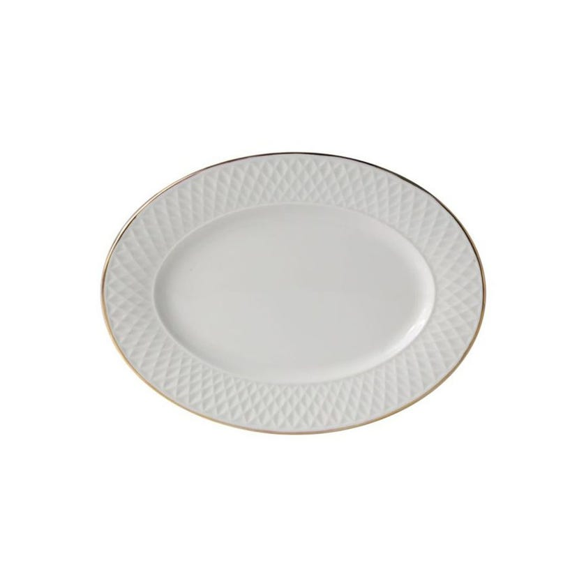 Eclat Porcelain Oval Platter - Gold (34 cms)