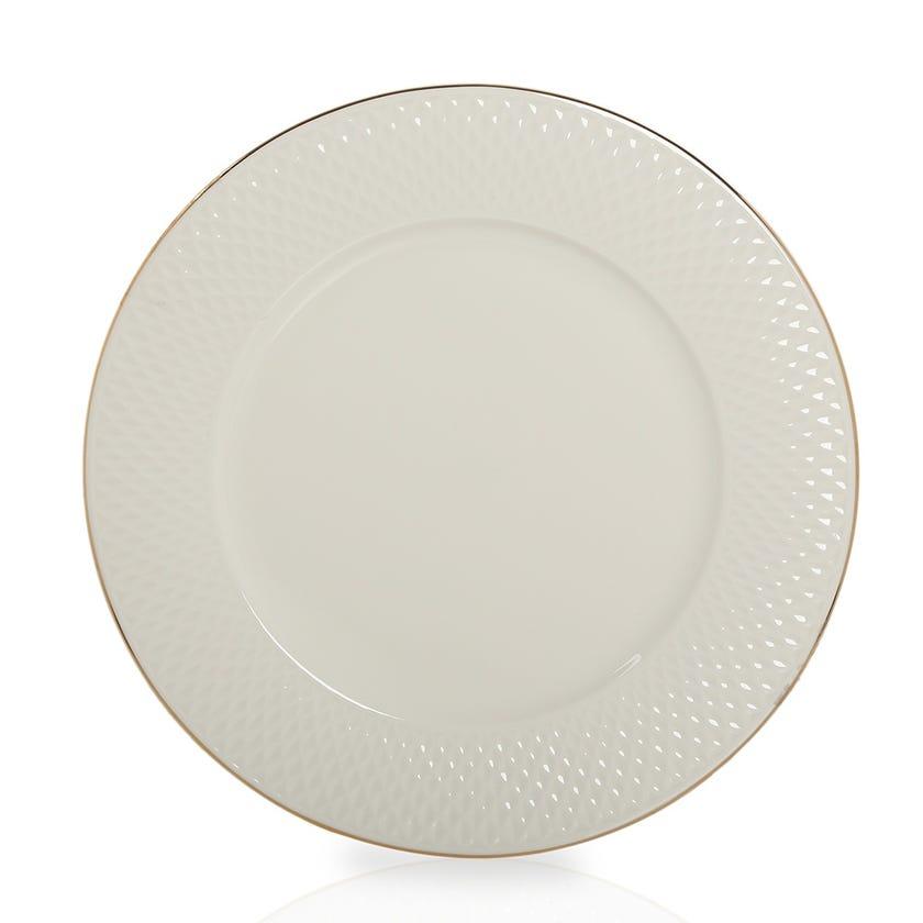 Eclat Porcelain Round Platter - Gold (30 cms)