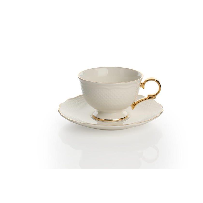 Viva Porcelain Cup & Saucer - Gold
