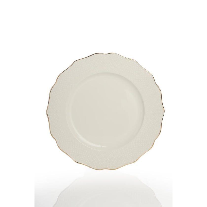 Viva Porcelain Round Platter - Gold (30 cms)