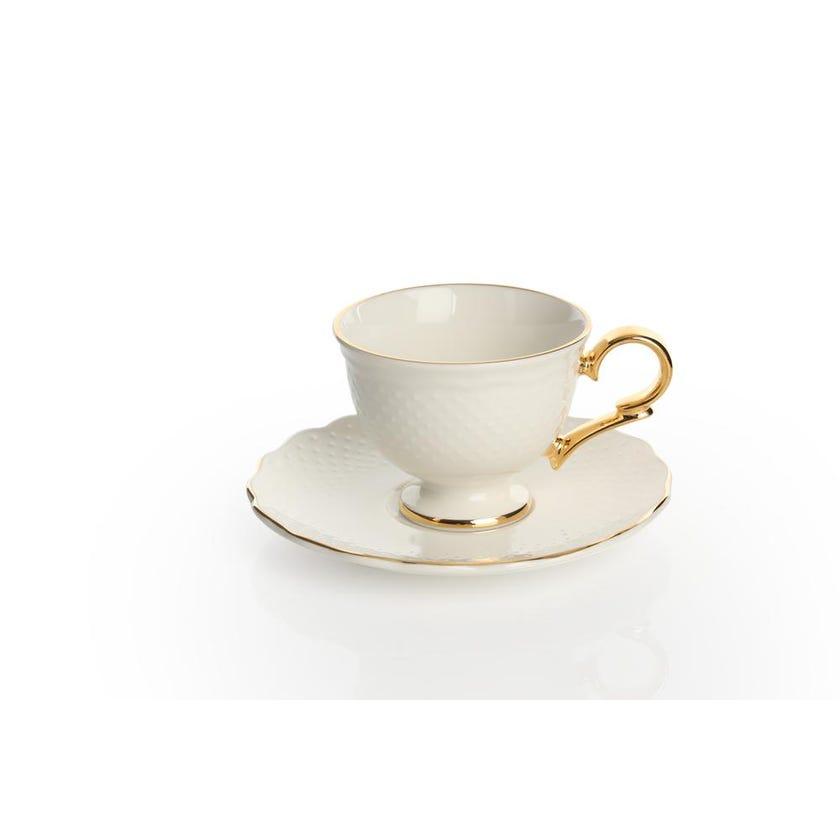 Viva Porcelain Espresso Cup & Saucer - Gold