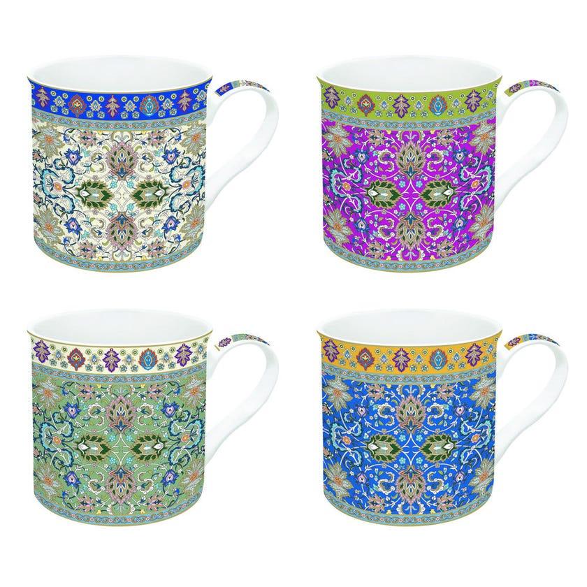 Perr Geometric 4 Mugs Set