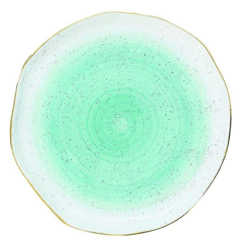 Artesanal Porcelain Side Plate - Green