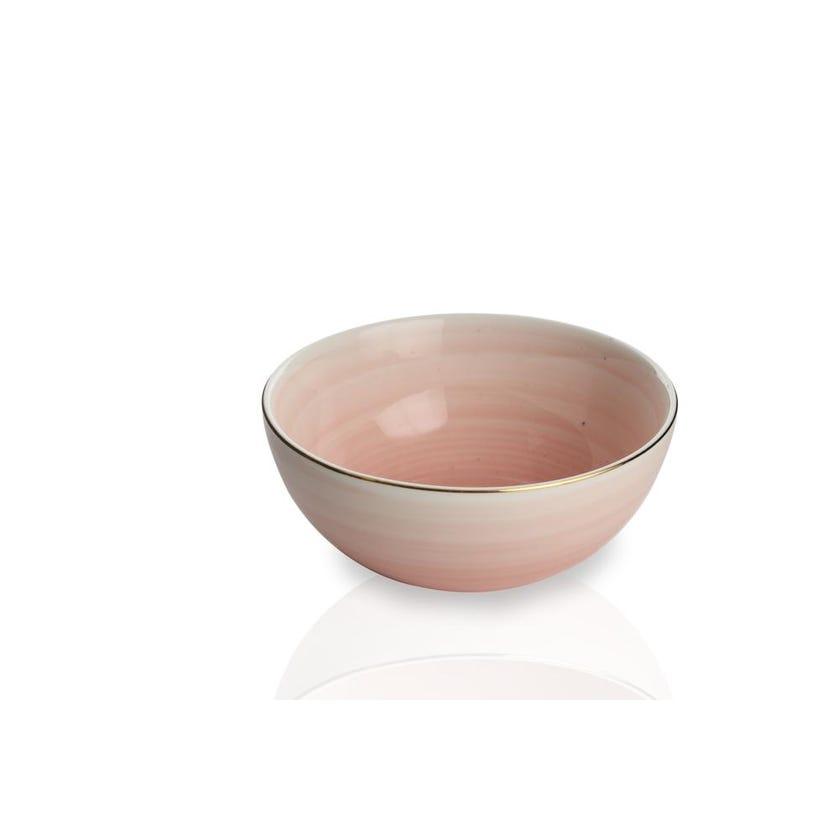 Artesanal Porcelain Serving Bowl - Pink