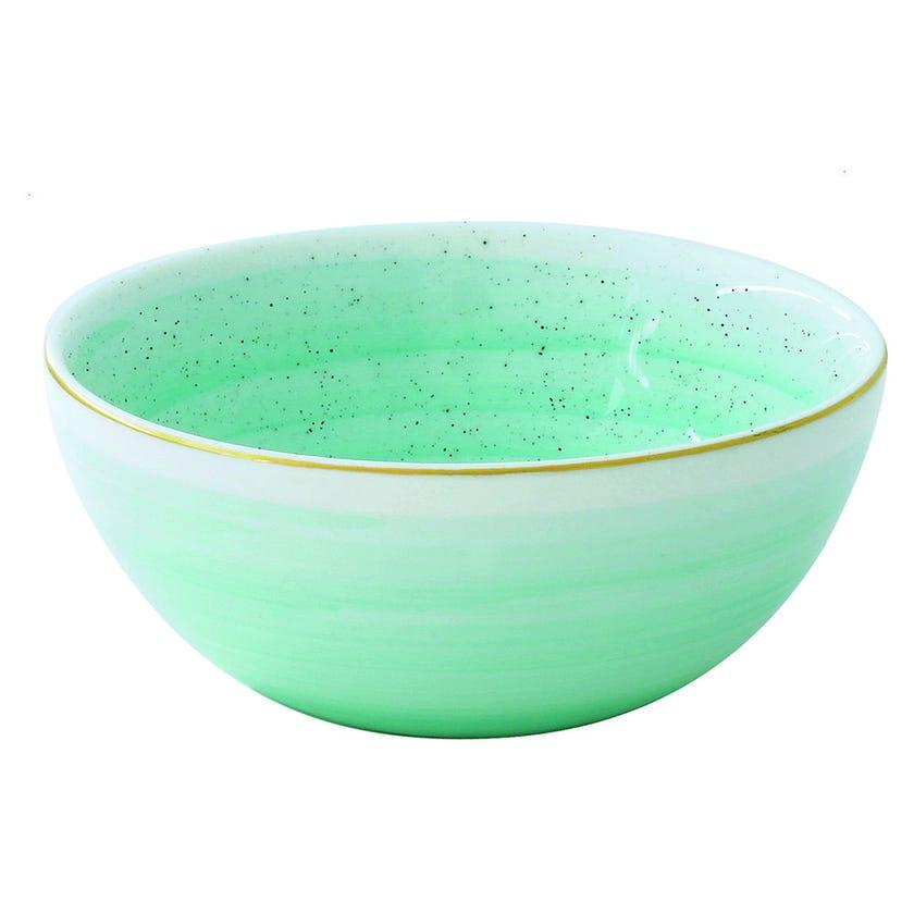 Artesanal Porcelain Serving Bowl - Green