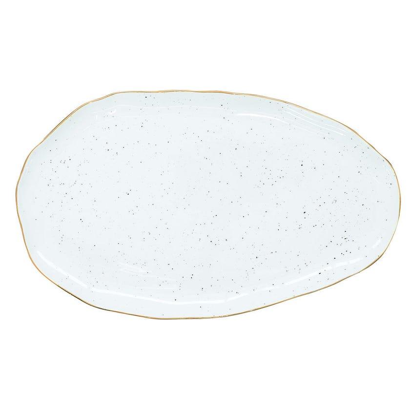 Porcelain Serving Platter - White