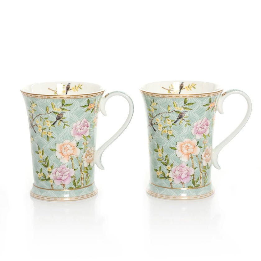 Palace Garden Aqua Mug Set, Multicolour - 270ml