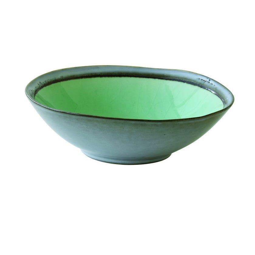 Stoneware Soup Plate, Green