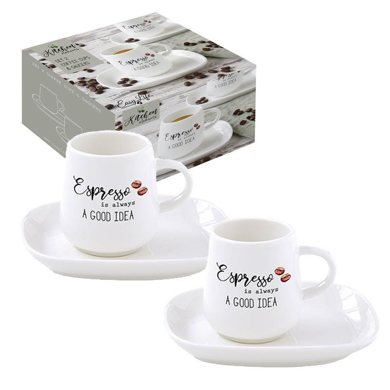 Kitchen Element Coffee Cup and Saucer