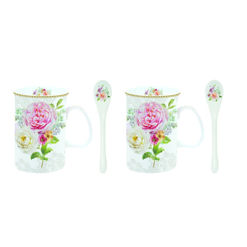 Romantic Lace 2-Piece Cup and Spoon Set