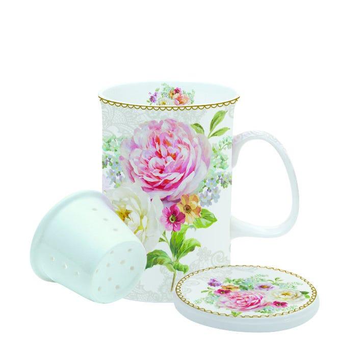 Romantic Lace Mug With Lid Gif Set