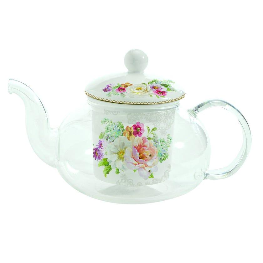 Romantic Lace Glass Teapot