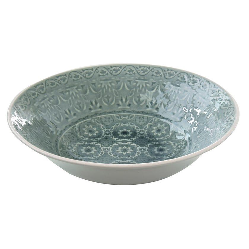 Ambiente Stoneware Salad Bowl - Grey, 26 cms